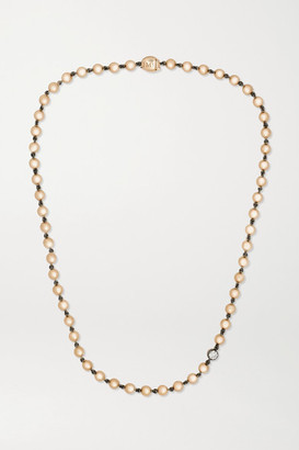 Jessica McCormack Ball N Chain 18-karat Rose Gold Diamond Necklace