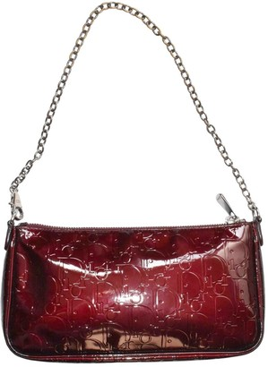 Christian Dior Burgundy Patent leather Clutch bags