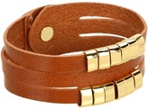 Linea Pelle Sliced Cuff With Sliders (Natural) - Jewelry