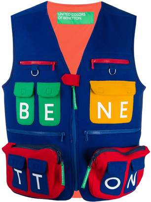 Benetton cargo pocket gilet
