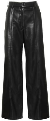 Nanushka High-rise wide faux-leather pants