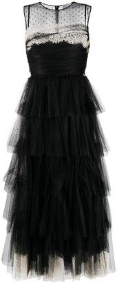 RED Valentino Tiered Evening Gown