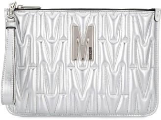 Moschino Monogram Quilted Clutch