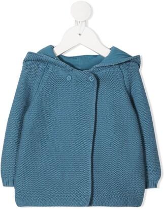 Stella McCartney Kids Bunny-Hood Knitted Cardigan