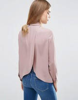 Asos Blouse With Wrap Back