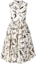 Aspesi leaf print shirt dress
