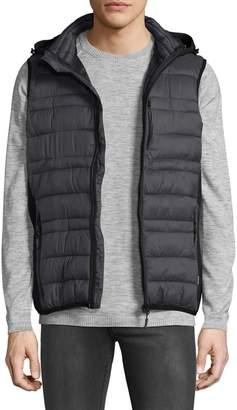 ProjekRaw Projek Raw Hooded Zip-Front Vest