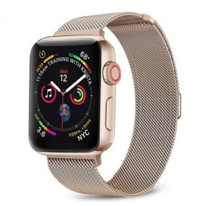 Posh Tech Men's and Women's Apple Dusty Rose Stainless Steel Replacement Band 40mm