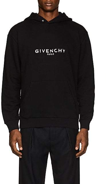 Givenchy Men's Logo-Print Cotton Hoodie - Black