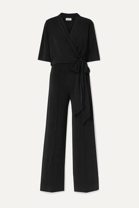 By Malene Birger Zhou Wrap-effect Stretch-crepe Jumpsuit - Black