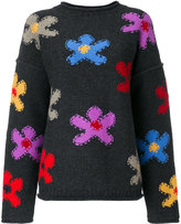 Ports 1961 flower knit sweater