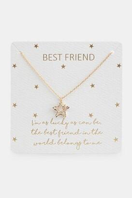 francesca's Best Friend Appreciation Star Pendant Necklace - Gold