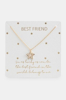 francesca's Best Friend Appreciation Star Pendant Necklace - Gold