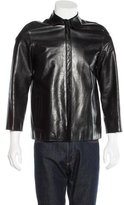 Calvin Klein Collection Leather Structured Jacket