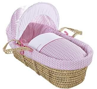 Clair De Lune Barley Bébé Palm Moses Basket (Pink)