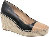 Charles by Charles David Charles David Leather Closed Toe Espadrill Wedges - Glider