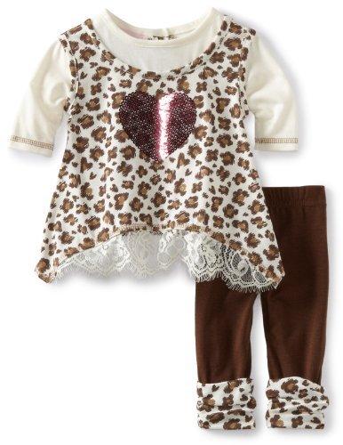 Little Lass Baby-Girls Newborn 2 Piece Animal Print Set