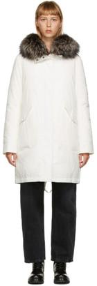 Yves Salomon   Army Yves Salomon - Army White Down and Fur Jacket