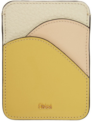 Chloé Yellow Walden Card Holder