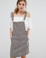 Suncoo Pinstripe Overall Dress