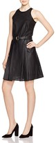 MICHAEL Michael Kors Perforated Faux Leather Dress