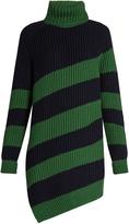 Marco De Vincenzo Oversized striped-wool sweater