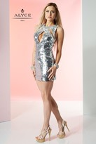 Alyce Paris Homecoming - 4431 Dress in Silver