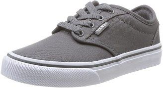 Vans Atwood Unisex-Childs' Low-Top Sneakers Grey ((Canvas) Pewter/White) 1.5 UK ( 32.5 EU )
