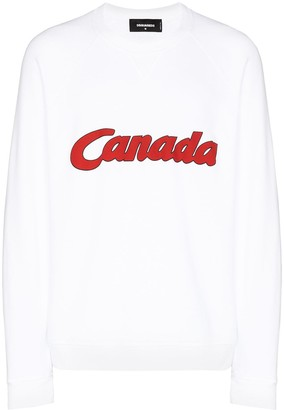 DSQUARED2 Canada print sweatshirt