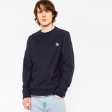 Paul Smith Men's Navy Organic-Cotton Zebra Logo Sweatshirt