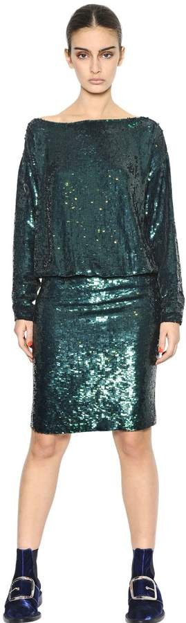 Givenchy Sequined Silk Crepe Dress