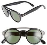 Tom Ford Men's Clint 50Mm Aviator Sunglasses - Black/ Green