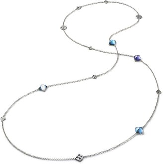 Baccarat Sterling Silver and Crystal Medicis Chain Necklace