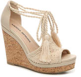 Moda Spana Women's Wanda Wedge Sandal -Beige