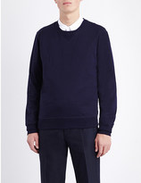 Brunello Cucinelli Ribbed-detail cotton sweatshirt