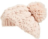 Hinge Women's Knit Pom Beret - Black