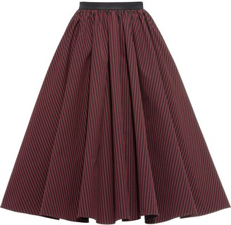Miu Miu Striped Full Skirt