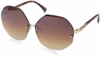 Rocawear Women's R3268 Gldts Non-Polarized Iridium Round Sunglasses