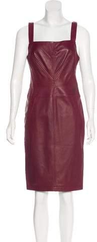 Derek Lam Leather Midi Dress