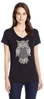 Hanes Women's Short Sleeve Graphic V-Neck Tee