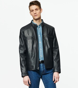 Andrew Marc   Final Sale Wendell Racer Leather Jacket