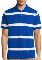 ST. JOHN'S BAY St. John's Bay Short-Sleeve Striped Legacy Piqu Polo