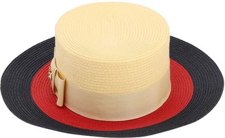 Gucci Straw Effect Hat