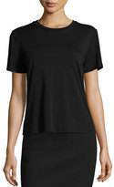 The Row Wesler Short-Sleeve Top, Black