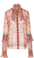 Anna Sui Feathers & Folage Top