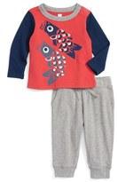 Tea Collection Infant Boy's Tako T-Shirt & Sweatpants Set