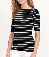 Lauren Ralph Lauren Stretch Cotton Bateau Tee