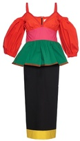 Isa Arfen Colour-block off-the-shoulder dress