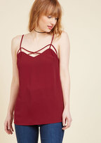 Transition Accomplished Tank Top in Garnet in XXS