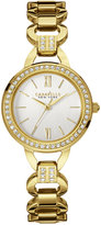 Bulova Caravelle New York by Women's Crystal Accent Gold-Tone Stainless Steel Bracelet Watch 28mm 44L162